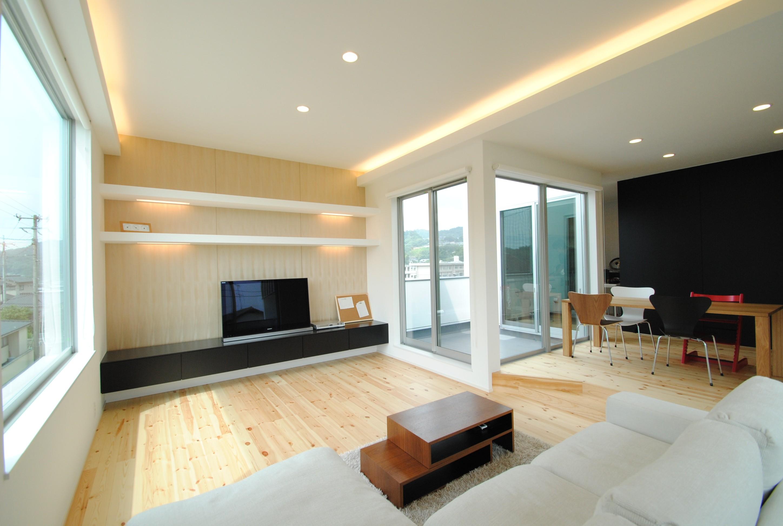 開放感も抜群、1階より大きな2階がある家 自由設計を得意とする住宅会社で実現